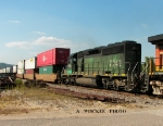FURX 7242 4th unit sb stack - container train